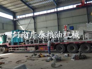 陕西渭南石磨面粉机组发货现场