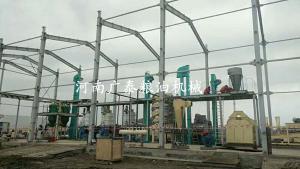 乌兹别克斯坦300吨棉籽预榨、浸出生产线安装现场